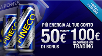 Promozione Fineco giugno 2012: con Codice Amico apri il conto corrente di Banca Fineco e guadagni da 50 a 100 euro